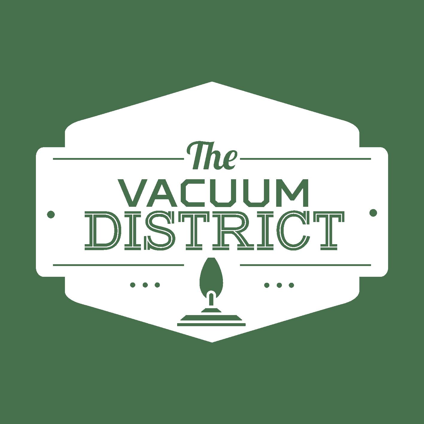 the vacuum district logo