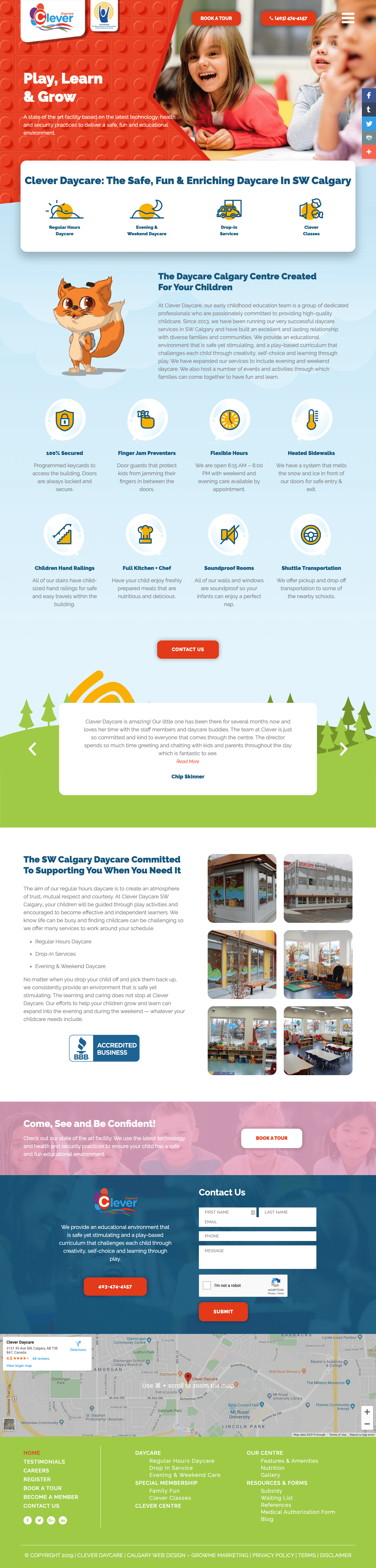 Clever Daycare Home Page