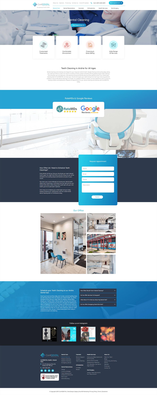 airdrie family dentist portfolio service page