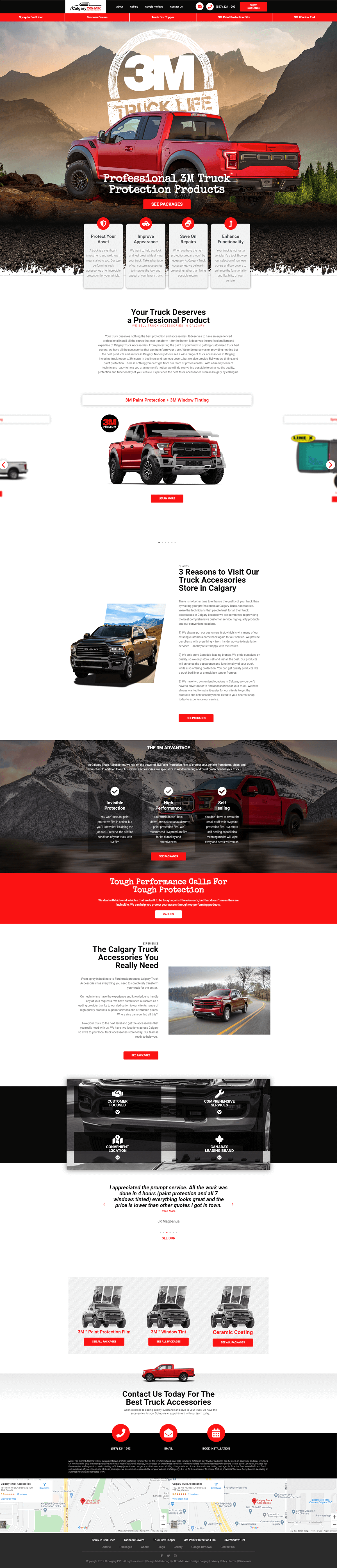 Calgary Truck Accessories Website Design Portfolio Growme
