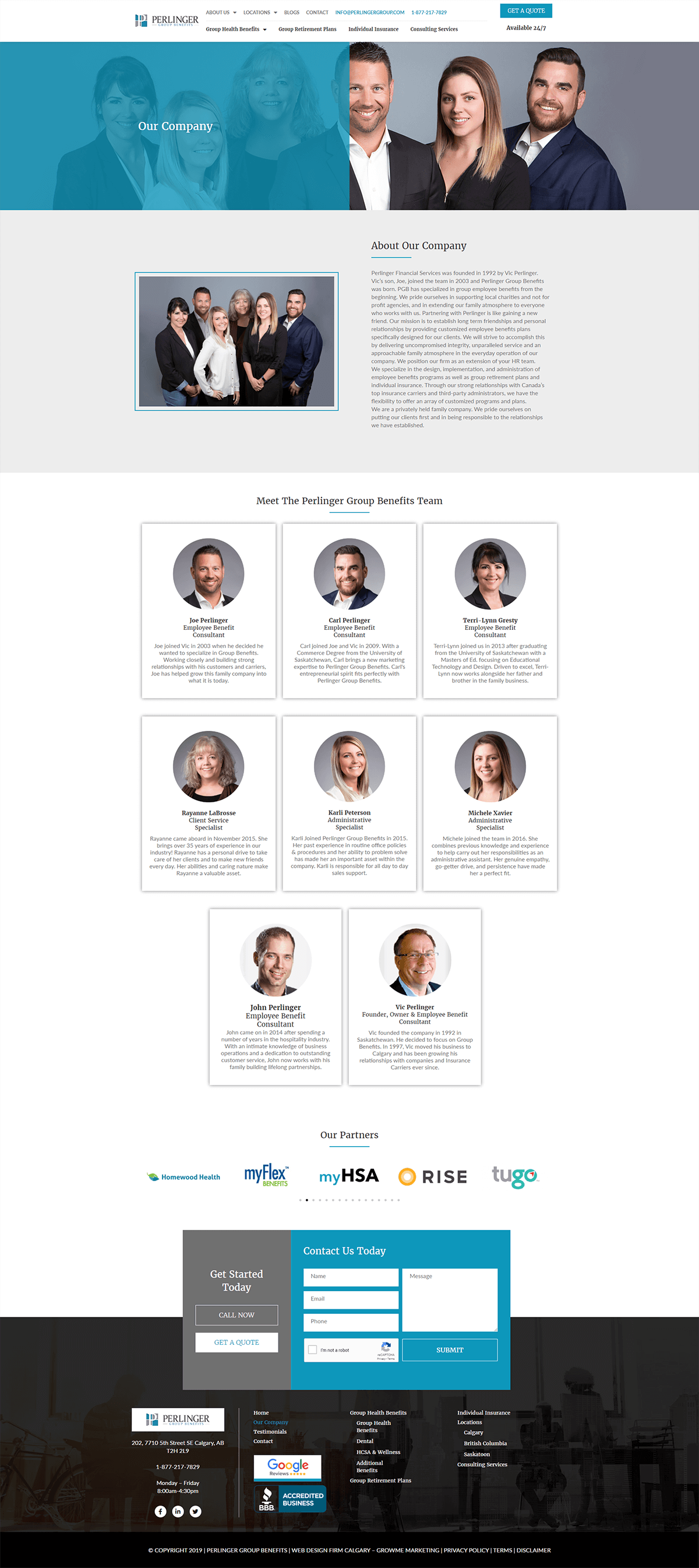 Perlinger Group Team Page