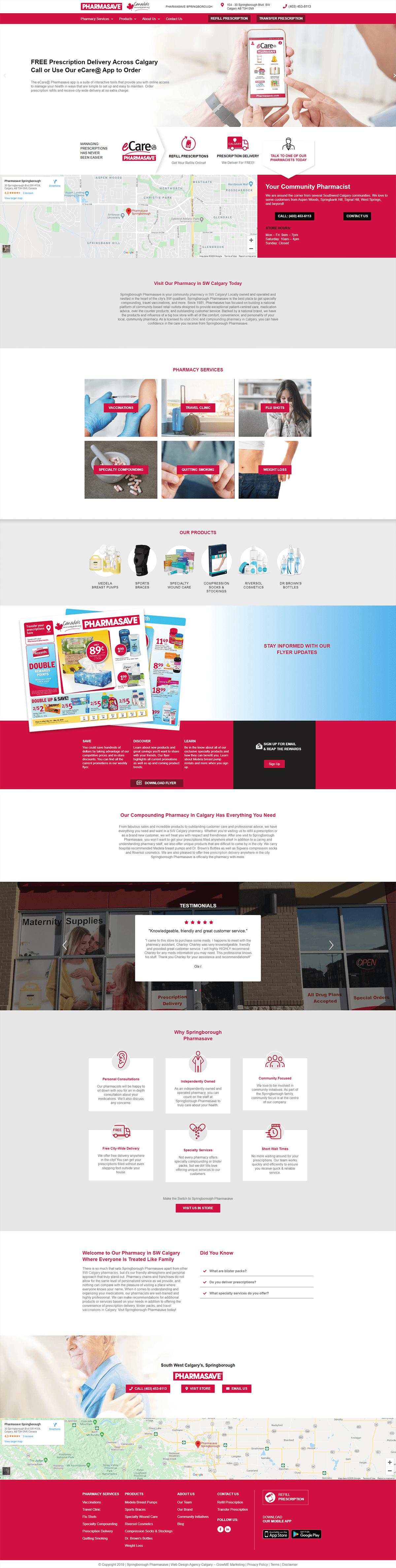 Springborough Pharmasave Home Page