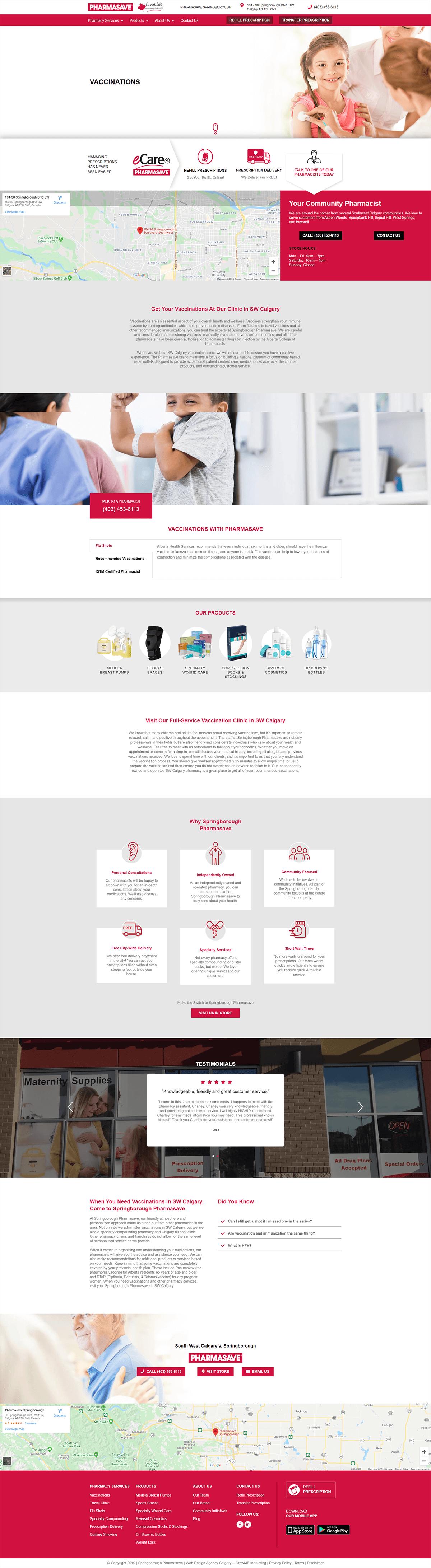 Springborough Pharmasave Service Page