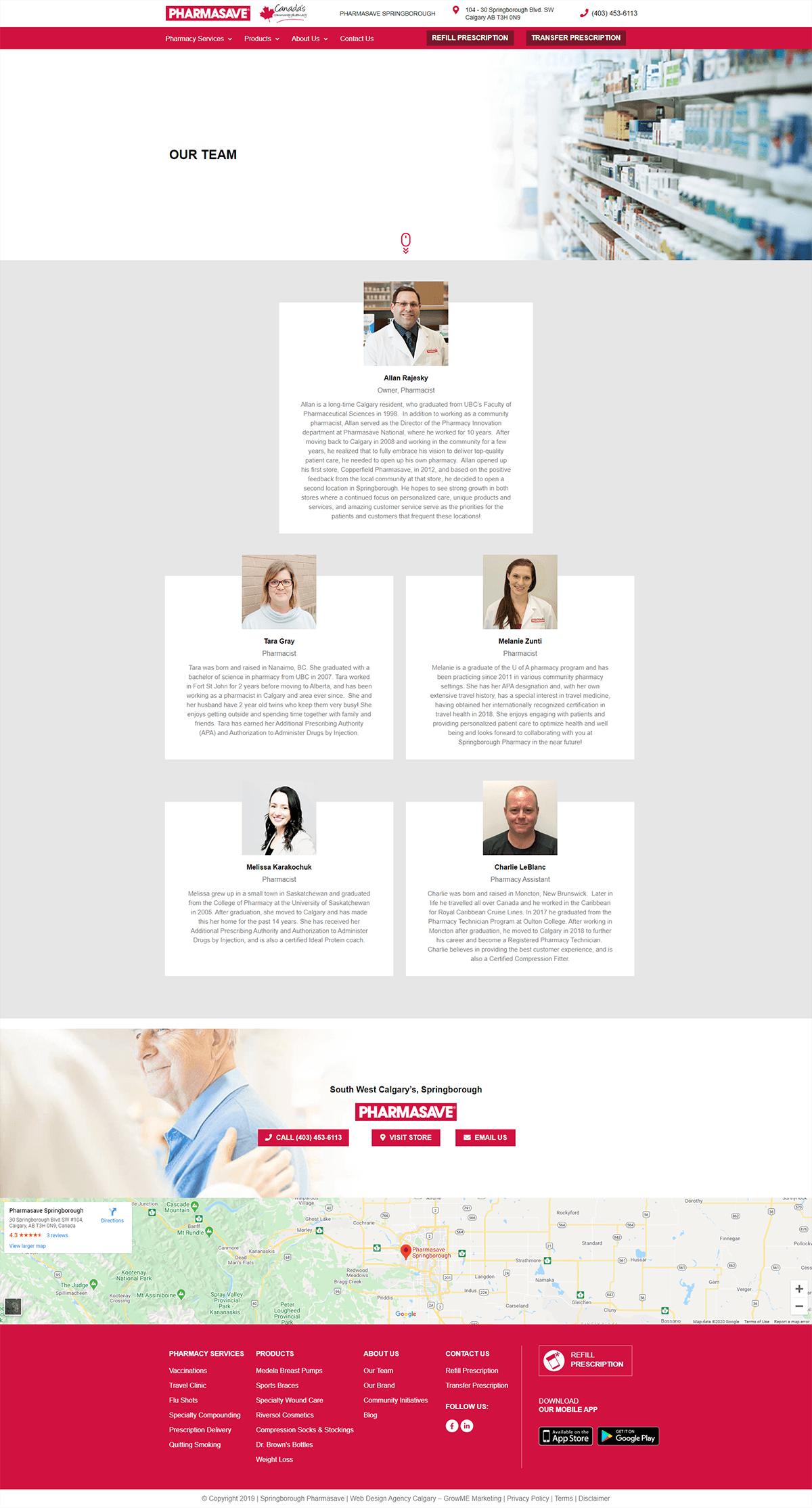 Springborough Pharmasave Team Page
