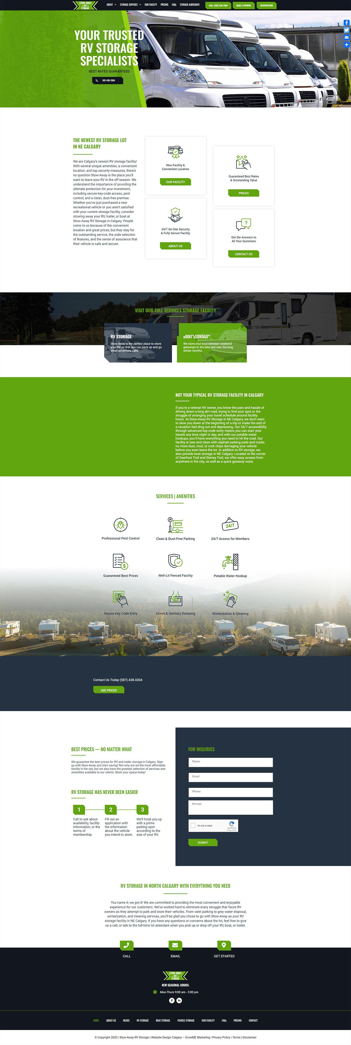 stowaway rv storage home page