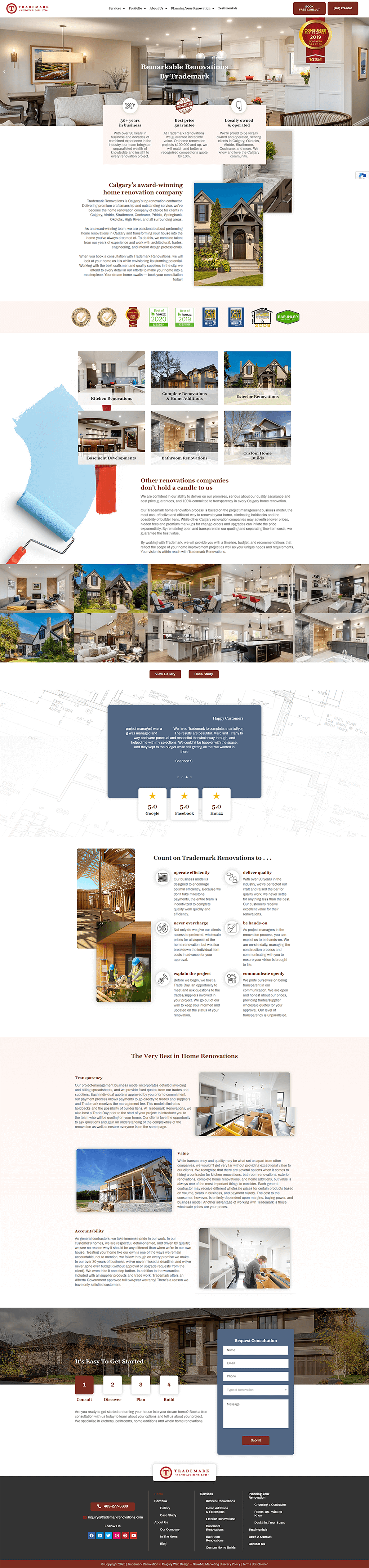 Trademark Renovations Home Page