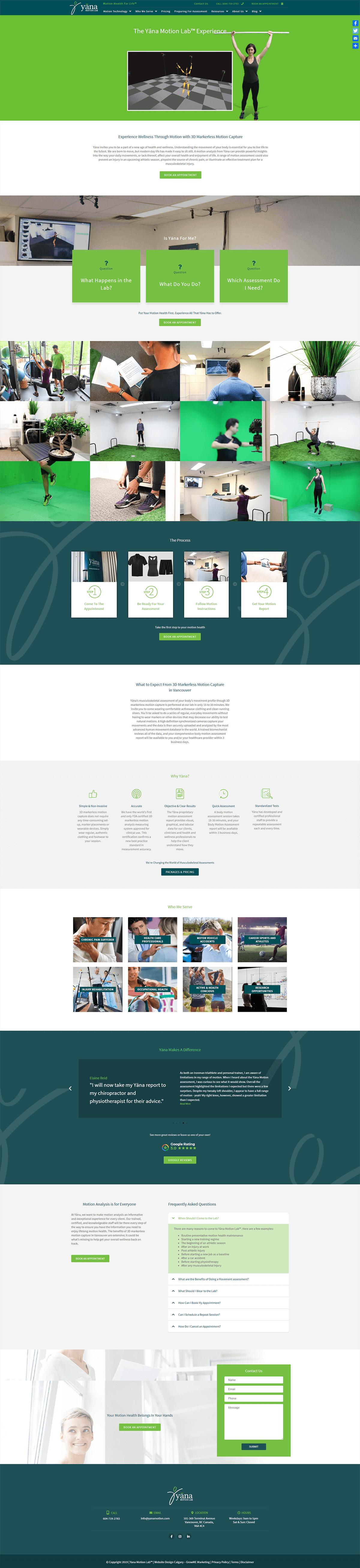 Yana Motion Service Page
