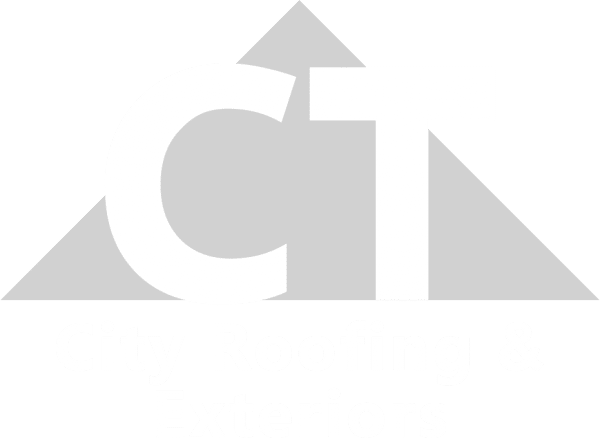 city roofing exteriors logo