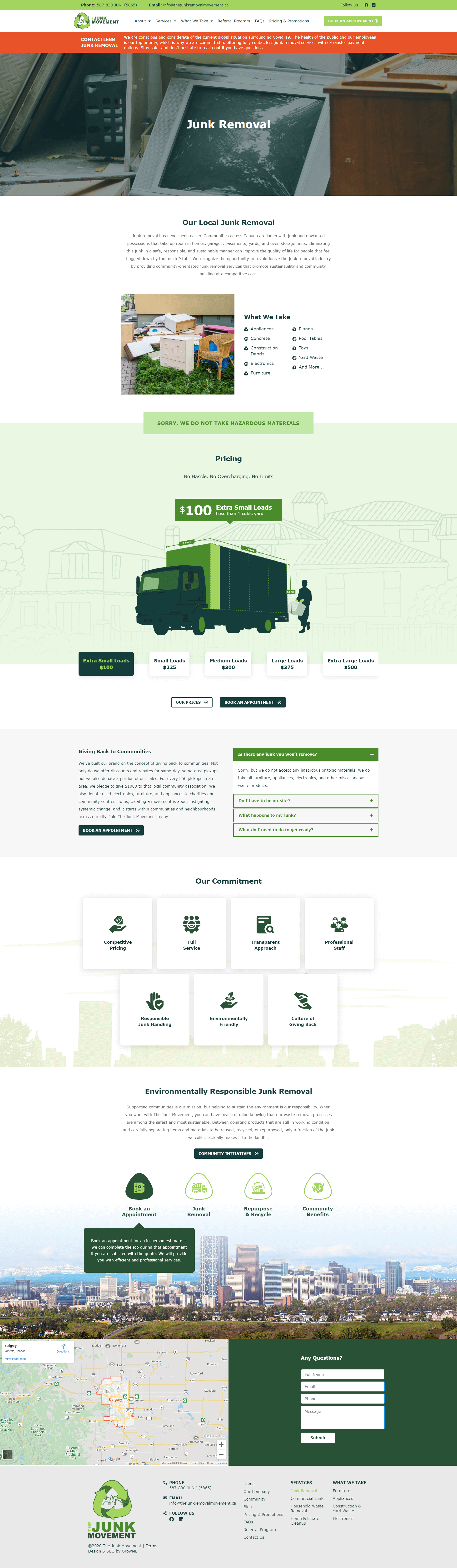 Junk Removal Movement Service Page