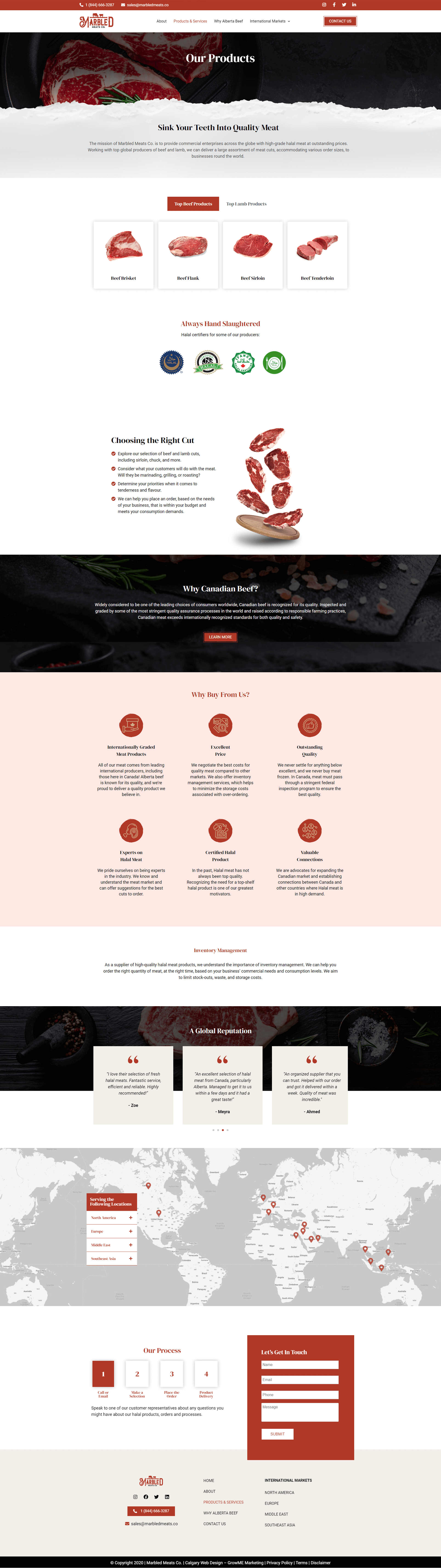 Marbled Meats Service Page