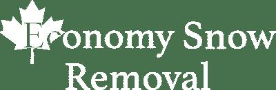 economy snow removal logo