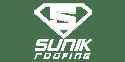 sunik roofing white logo
