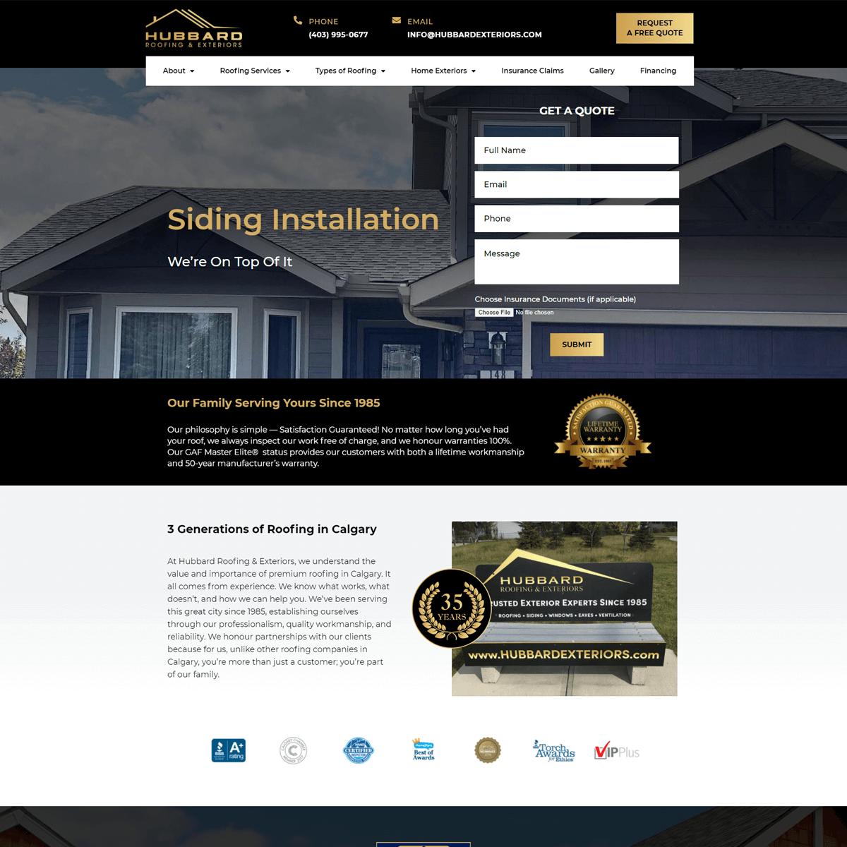 website-design-portfolio-after-hubbard-exteriors