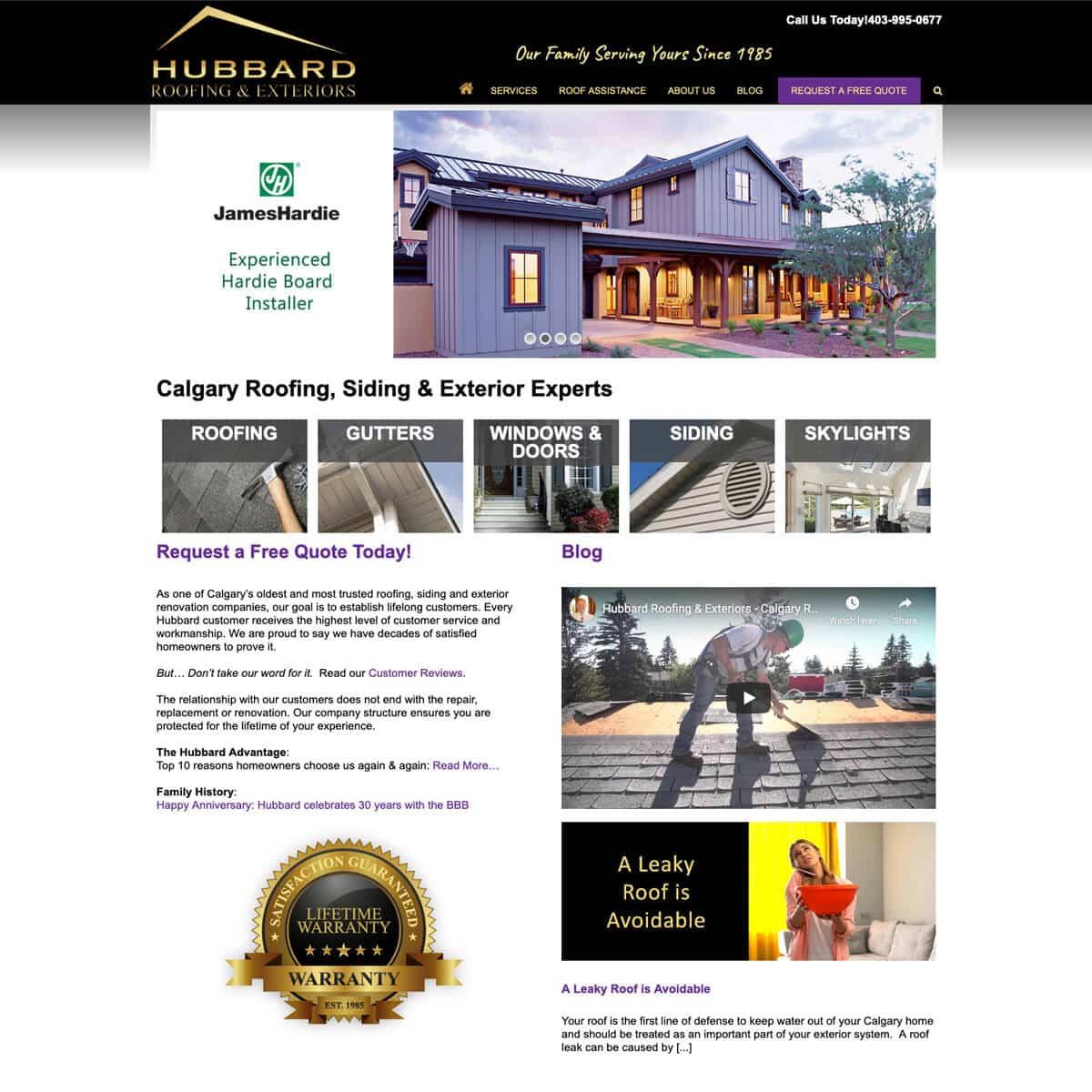 website-design-portfolio-before-hubbard-exteriors