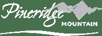 pineridge mountain white logo