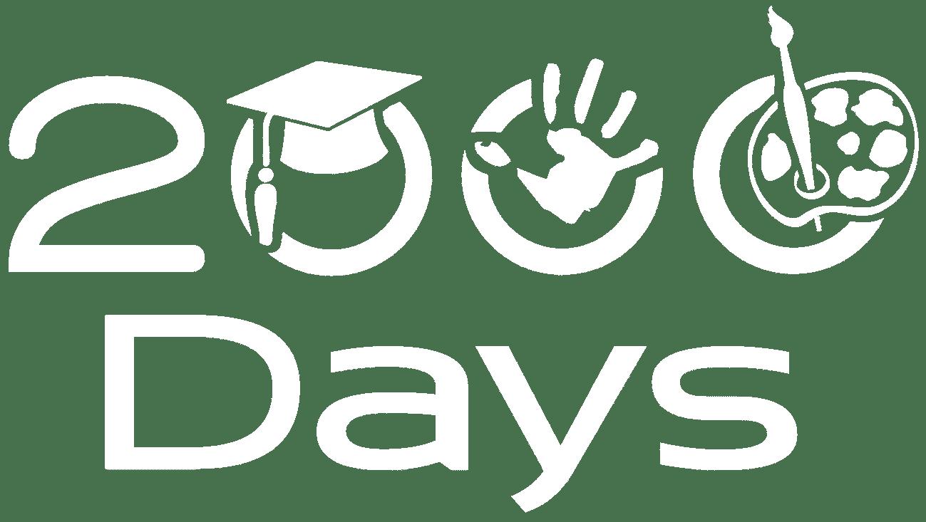 2000 days daycare white logo
