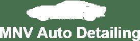 mnv auto detailing white logo